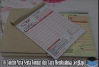 16 Contoh Nota Serta Format dan Cara Membuatnya Lengkap